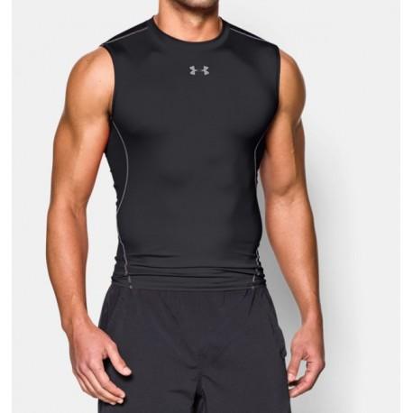 Playera UA HeatGear® Armour Sleeveless Compression para Hombre-Deportes y futbol-Compresión para Hombre