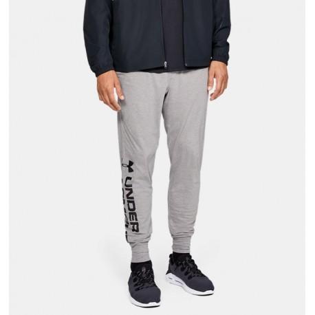 Pantalones de Entrenamiento UA Sportstyle Cotton Graphic para Hombre-Deportes y futbol-Pantalones y Pants de Hombre