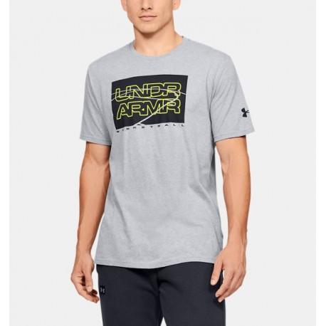 Men's UA UNDR ARMR Court Graphic T-Shirt-Deportes y futbol-Basquetbol Hombres
